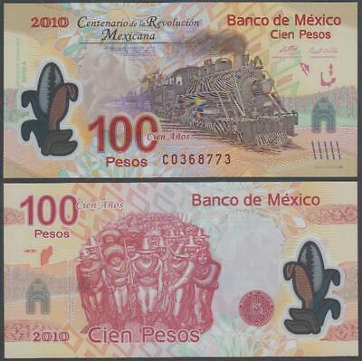 Banco De Mexico - Polymer Railroad Commemorative, 100 Pesos, 2010, UNC
