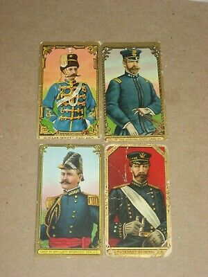 1910 T80 Military Series set - Lot of 4 Tolstoi cards