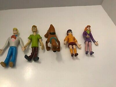 1999 Equity Marketing Hanna Barbara Scooby Doo, Velma, Fred, Shaggy, Daphne Figs