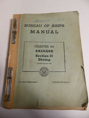 Commercial Diving Helmets Bureau of Ships Manual US Navy Salvage Diving