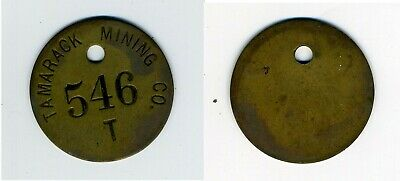 Tamarack Mining Co Miners Tag – Brass