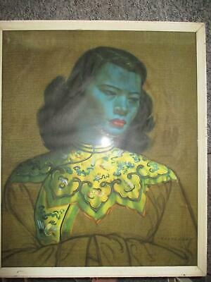 Vintage Tretchikoff  - Original frame - Chinese Girl/Green Lady - 1950's