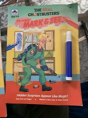 Vintage 1984 The Real Ghostbusters Coloring Book Mark And See USED