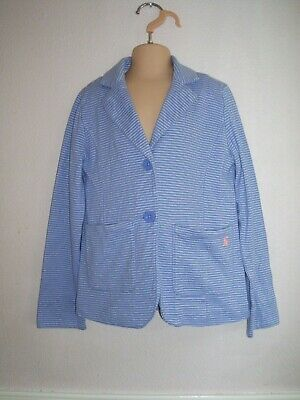 Joules Blue & White Stripe Lightweight Summer Girls Blazer 128cms Age 7-8 Years