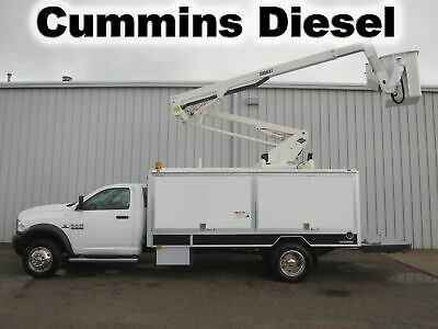 Ram 5500 Cummins Omni Bucket Boom Versalift Light Box Service Utility Work Truck