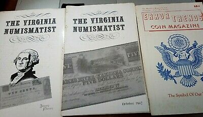 Vintage Local Coin pamphlets or magazines, Virginia Numismatist, Error Trends