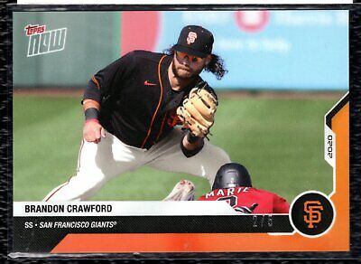 2020 Topps Now Road to Opening Day Brandon Crawford Orange 2/5 Giants