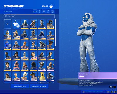 Stacked Fortnite Account with 82 skins 52 axes 58 gliders 70 bags 150 vbucks