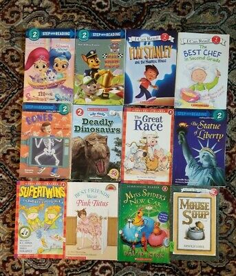 Lot of 12 Level 2. I Can Read -Step into Reading-Scholistic Books MIX