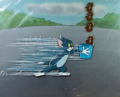 "Original Production Cels from ""The New Adventures of Tom and Jerry"" 1980 COA"