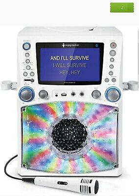 "Singing Machine 7"" Color Monitor Bluetooth Karaoke Machine with Disco Lights NEW"