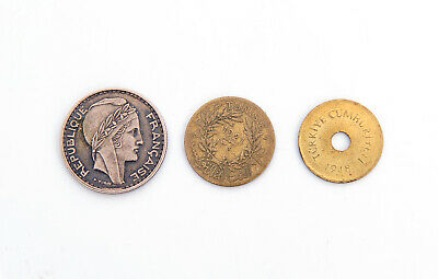 1949 Algeria 50 Fr,1921 Tunisia 1 Fr, 1948 Turkey 2-1/2 Kurus,Coins,Lot 788