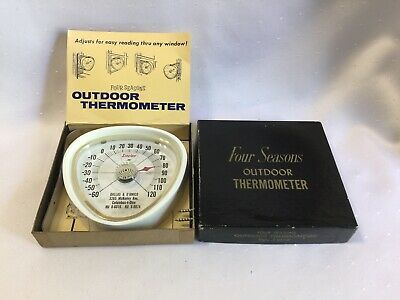 Vintage SINCLAIR GAS STATION FOUR SEASONS OUTDOOR THERMOMETER Advertising NOS