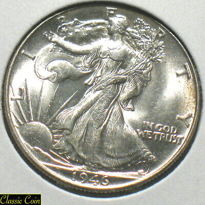 1946 Silver Walking Liberty Half Dollar 50c Uncirculated Details 90% Silver