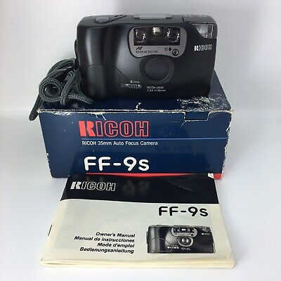 Boxed Ricoh FF-9s 35mm Auto Focus Camera Vintage