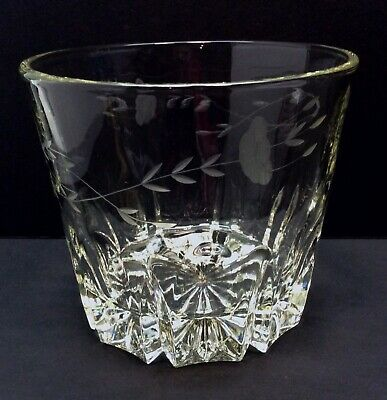 🔴 Vintage Princess House Heavy Lead Crystal Champagne Wine Ice Bucket Etched