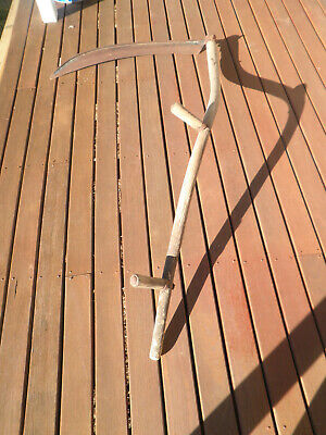 Vint Rustic Scythe Large Farming Reaping Tool No Makers Name