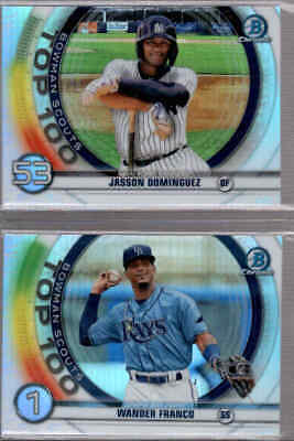 2020 Bowman Chrome Scouts Top 100 Prospects - You Pick From A List