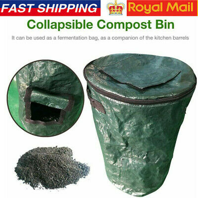 Organic Composter Collapsible Compost Bin Garden Kitchen Waste Rubbish Bags