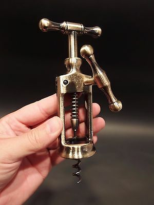 Antique Vintage Style Rack & Pinion Kings Corkscrew Wine Bottle Opener