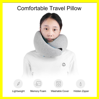 Memory Foam Travel Neck Pillow U-Shaped Neck Head Support Cushion Sleep Napping.