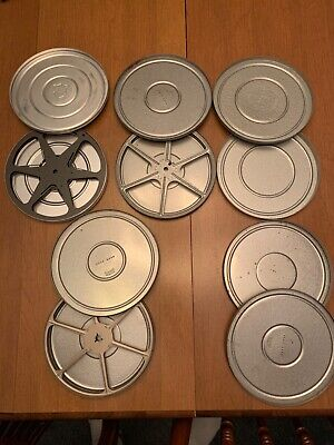 Lot of 5,  8mm film canisters  with 3 reels, vintage