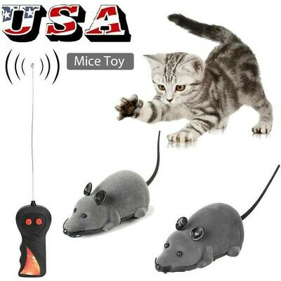Remote Control RC Rat Mouse Wireless For Cat Dog Pet Toy Novelty Gift Hot Sale