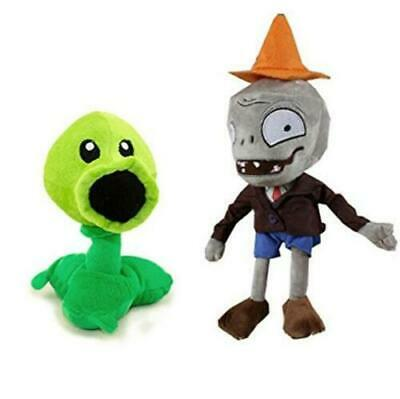 2pc/set PLANTS vs ZOMBIES Conehead Zombie Peashooter Plush Doll Stuffed Kids Toy