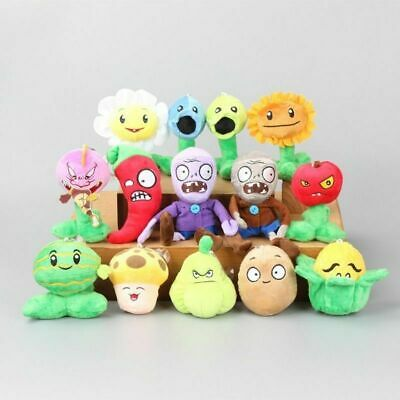 set of 14pcs PVZ PLANTS vs. ZOMBIES Plush Doll Stuffed Toy Children Kids Gift