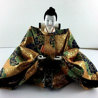 Antique Hina Ningyo Japanese Emperor Doll Only ESTATE PIECE