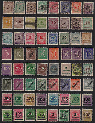 German Stamps Inflation Issues from Old Album GCV
