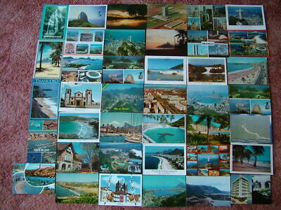 40 Used Postcards of SOUTH & CENTRAL AMERICA. 1970's onwards.