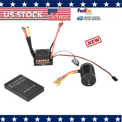 Waterproof 9T 4370KV Brushless With 60A ESC Program Card Combo for 1/10 RC Car