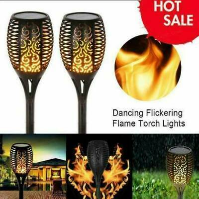 12LED Solar Torch Light Waterproof Flame Flickering Dancing Garden Lantern Lamp