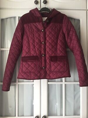 Girls Diamond Stitch Jacket Coat With Hood By Hooch Age 14
