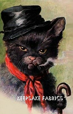 Black Cat With An Attitude Quilt Block FrEE ShiPPinG WoRld WiDE c