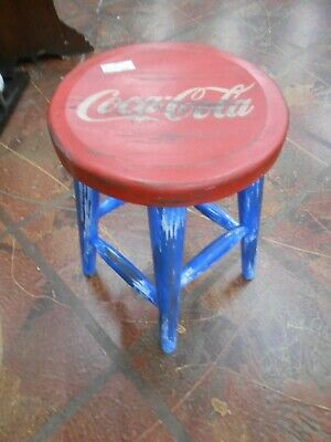 "Great COCA COLA Wood Bench Stool  20"" height......SALE"