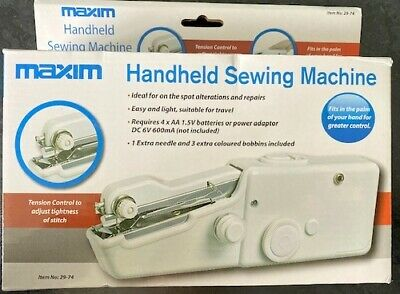 Mini Portable Handheld Cordless Sewing Machine Hand Held Stitch Home Clothes NEW