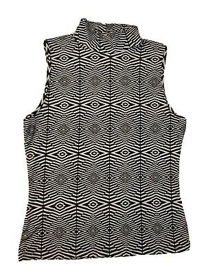 United colors of benetton Women's Tank Top Black & White Sleeveless Size S