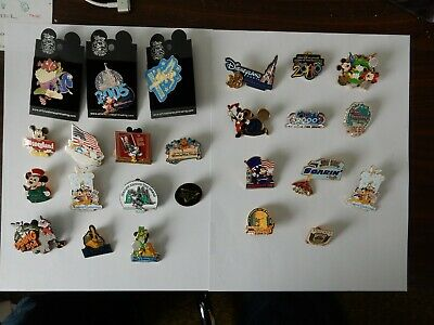 Disney Trading Pin Lot - 25 pins - wide variety, some still on cards.