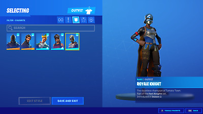 Rare Fortnite account - Renegade and Black knight + high level on save the world