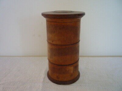 A 3 Section 19Th C Spice Tower Treen English Kitchenalia