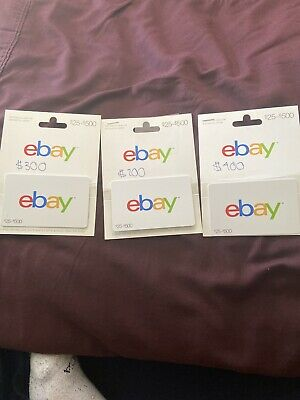 3 Ebay Giftcards