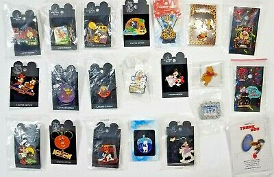 Lot of 21 Disney Pins- 2002 Halloween & Other mixed Pins - Many Limited Editions