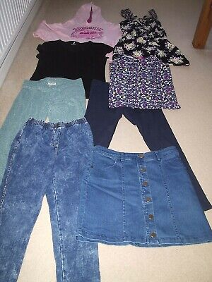 Girls Clothes Bundle Age 13 - 14 Years Tops Leggings Skirt Next Etc