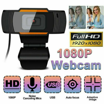 Webcam HD 1920 x 1080 With Microphone Auto Focusing PC Camera For Laptop Desktop
