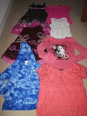 Girls Clothes Bundle Age 8 Years Tops Dress Skirt Saltrock Hoodie