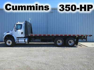 M2 106 350-Hp Cummins Tandem Axle 24-Ft Flat Bed Body Haul Delivery Truck