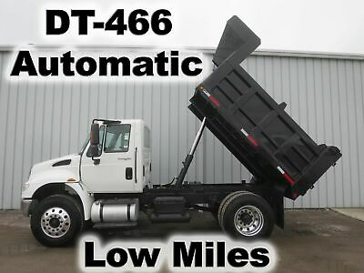 4400 Dt466 Automatic 10Ft Dump Bed Body Haul Delivery Contractors Truck Low Mile