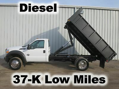 F450 Diesel Automatic 12Ft Dump Bed Body  Contractor Landscape Truck  37-K Mi.
